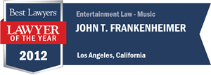 John T. Frankenheimer has earned a Lawyer of the Year award for 2012!