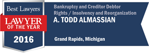 A. Todd Almassian has earned a Lawyer of the Year award for 2016!