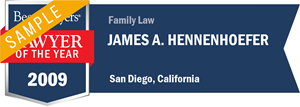 James A. Hennenhoefer has earned a Lawyer of the Year award for 2009!