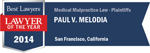 Paul V. Melodia has earned a Lawyer of the Year award for 2014!