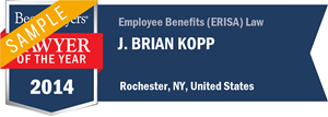 Brian J. Kopp has earned a Lawyer of the Year award for 2014!
