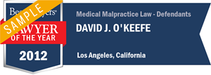 David J. O'Keefe has earned a Lawyer of the Year award for 2012!