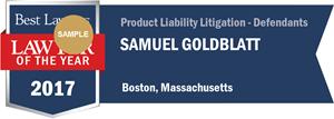 Samuel Goldblatt has earned a Lawyer of the Year award for 2017!