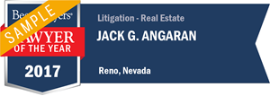 Jack G. Angaran has earned a Lawyer of the Year award for 2017!