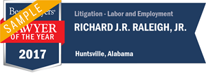 Richard J.R. Raleigh, Jr. has earned a Lawyer of the Year award for 2017!
