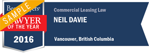 Neil Davie has earned a Lawyer of the Year award for 2016!