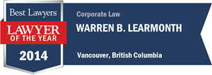 Warren B. Learmonth has earned a Lawyer of the Year award for 2014!