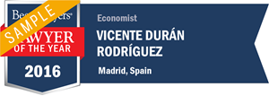 Vicente Durán has earned a Lawyer of the Year award for 2016!