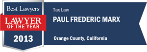 Paul Frederic Marx has earned a Lawyer of the Year award for 2013!
