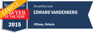 Edward Vandenberg has earned a Lawyer of the Year award for 2015!