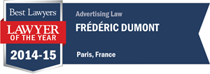 Frédéric Dumont has earned a Lawyer of the Year award for 2014!