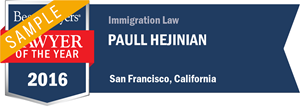 Paull Hejinian has earned a Lawyer of the Year award for 2016!