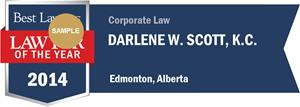Darlene W. Scott has earned a Lawyer of the Year award for 2014!