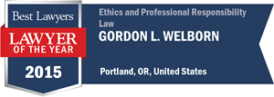 Gordon L. Welborn has earned a Lawyer of the Year award for 2015!