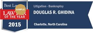 Douglas R. Ghidina has earned a Lawyer of the Year award for 2015!