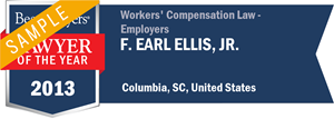 F. Earl Ellis, Jr. has earned a Lawyer of the Year award for 2013!