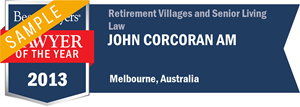 John Corcoran has earned a Lawyer of the Year award for 2013!