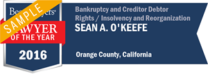 Sean A. O'Keefe has earned a Lawyer of the Year award for 2016!