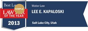 Lee E. Kapaloski has earned a Lawyer of the Year award for 2013!