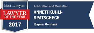 Annett Kuhli has earned a Lawyer of the Year award for 2017!