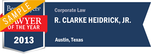R. Clarke Heidrick, Jr. has earned a Lawyer of the Year award for 2013!