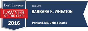 Barbara K. Wheaton has earned a Lawyer of the Year award for 2016!
