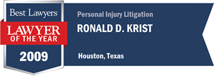 Ronald D. Krist has earned a Lawyer of the Year award for 2009!