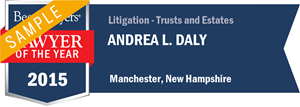 Andrea L. Daly has earned a Lawyer of the Year award for 2015!