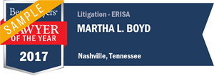 Martha L. Boyd has earned a Lawyer of the Year award for 2017!