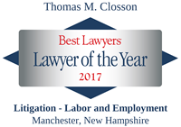 Best Lawyers - Lawyer of the Year 2017 - Thomas M. Closson
