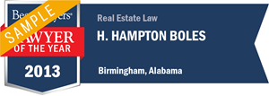 H. Hampton Boles has earned a Lawyer of the Year award for 2013!