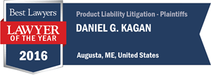 Daniel G. Kagan has earned a Lawyer of the Year award for 2016!
