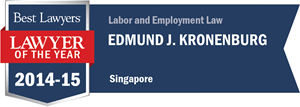 Edmund J. Kronenburg has earned a Lawyer of the Year award for 2014!