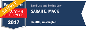 Sarah E. Mack has earned a Lawyer of the Year award for 2017!