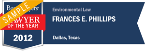 Frances E. Phillips has earned a Lawyer of the Year award for 2012!