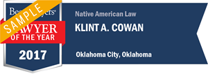 Klint A. Cowan has earned a Lawyer of the Year award for 2017!