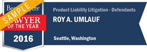 Roy A. Umlauf has earned a Lawyer of the Year award for 2016!