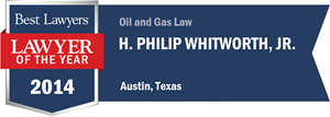 H. Philip Whitworth, Jr. has earned a Lawyer of the Year award for 2014!