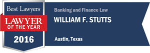 William F. Stutts has earned a Lawyer of the Year award for 2016!