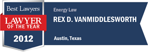 Rex D. VanMiddlesworth has earned a Lawyer of the Year award for 2012!
