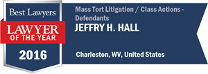 Jeffry H. Hall has earned a Lawyer of the Year award for 2016!