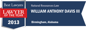 William Anthony Davis III has earned a Lawyer of the Year award for 2013!