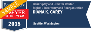Diana K. Carey has earned a Lawyer of the Year award for 2015!
