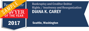 Diana K. Carey has earned a Lawyer of the Year award for 2017!