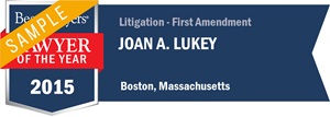 Joan A. Lukey has earned a Lawyer of the Year award for 2015!