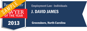J. David James has earned a Lawyer of the Year award for 2013!