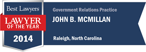 John B. McMillan has earned a Lawyer of the Year award for 2014!