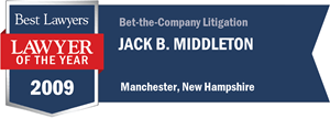 Jack B. Middleton has earned a Lawyer of the Year award for 2009!