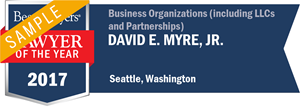 David E. Myre, Jr. has earned a Lawyer of the Year award for 2017!