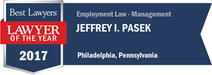 Jeffrey I. Pasek has earned a Lawyer of the Year award for 2017!